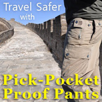 Pick-Pocket Proof Pants™ - P^cubed ® Travel Pants | clothingarts.com