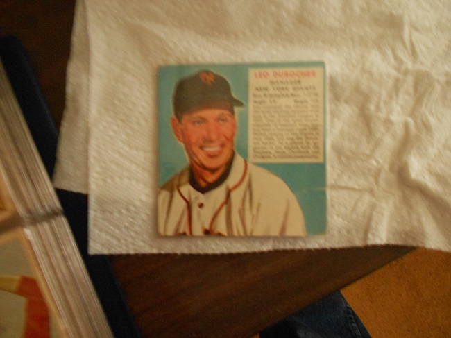 1952 Red Man Chewing Tobacco Leo Durocher baseball card (Manager of the New York Giants)