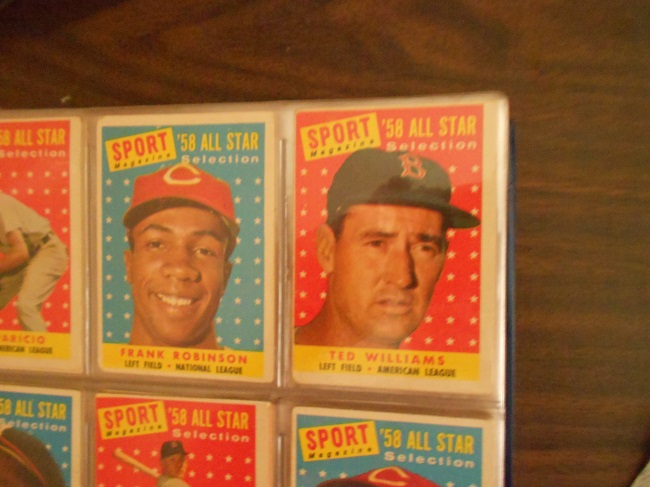 1958 Topps All-Star baseball card series. One of my all time favorite cards and Ted Williams to boot!