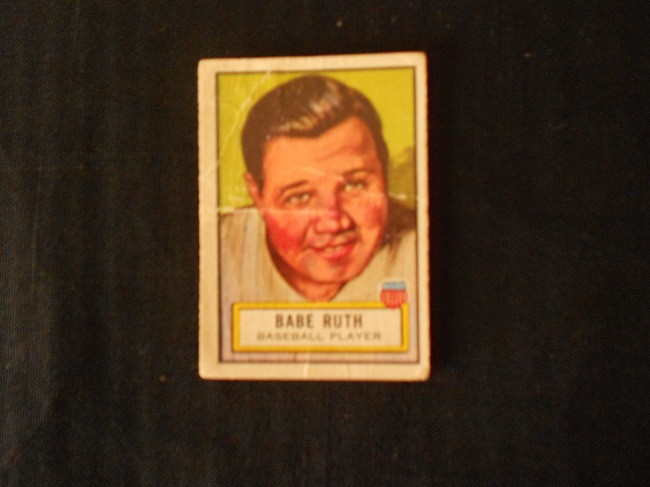 "1952 Topps ""Look 'n See"" Babe Ruth baseball card."