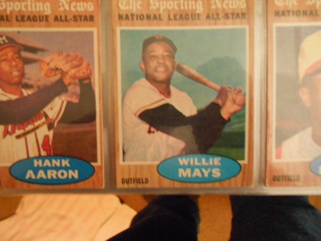 1961 Topps Willie Mays. One of the top three players ever!