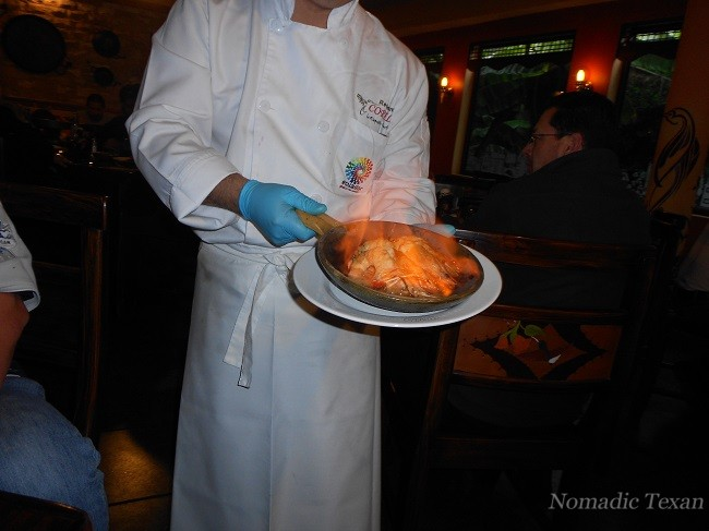 Chef Patricio Drowns the Langostinos with Scotch and Sets Them on Fire
