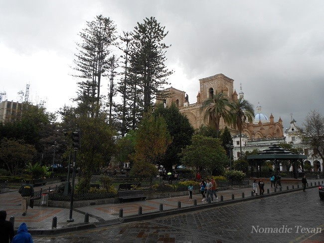 Parque Calderon Near the New Cathedral in Cuenca