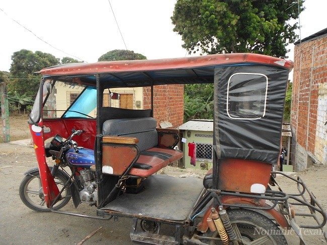 Tuk Tuk Like Taxi in Rural Area Towns