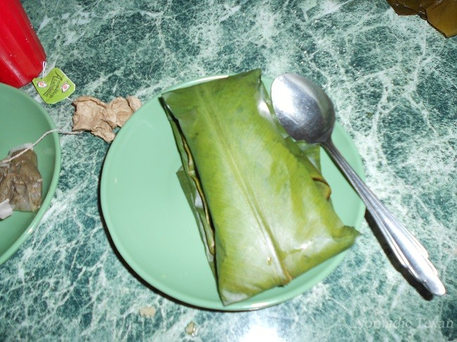 Banana Leaf Wrapping for All Three Items