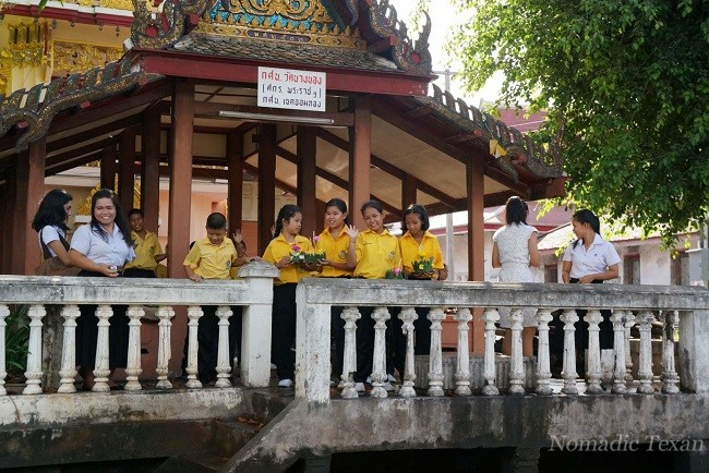 Thai Children Celebrating Loy Katrong