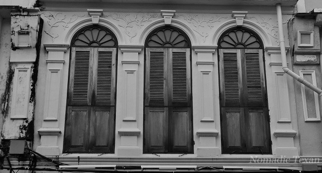 B/W Photo of Old Town Phuket