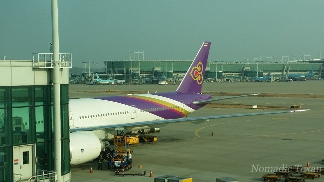 Our Thai Airways Plane in Seoul Korea