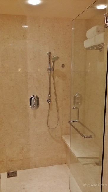 Right Side of Shower as You Enter