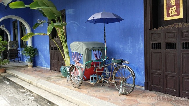 Single Rick-Shaw with Umbrella