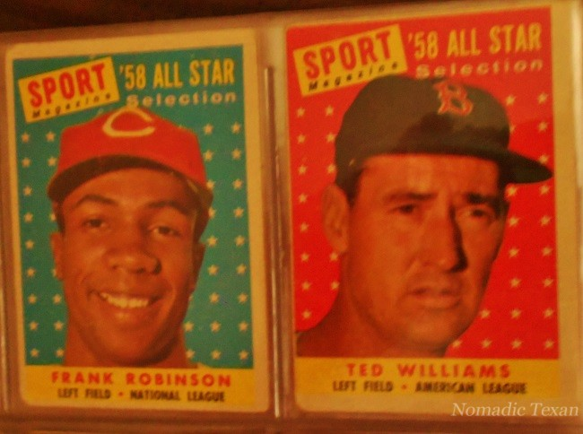 Frank Robinson and Ted Williams 1958 Baseball All-Star Cards