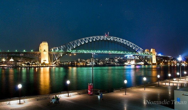 View of the Harbor Bridge in Sydney Australia