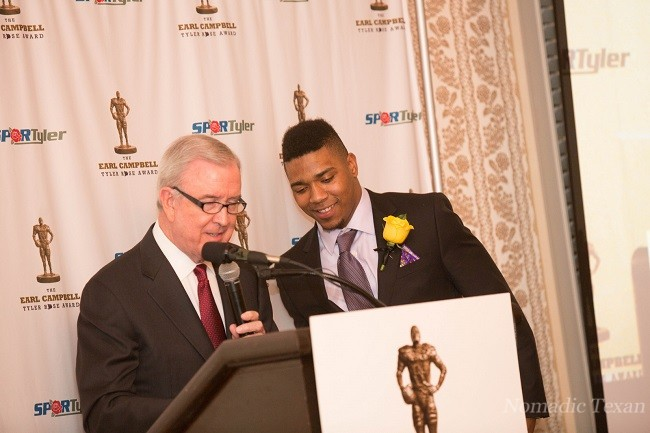 Ron Franklin with Trevone Boykin 2014 Winner