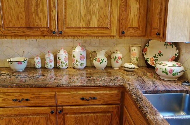 Franciscan Desert Rose China in the Frank Home