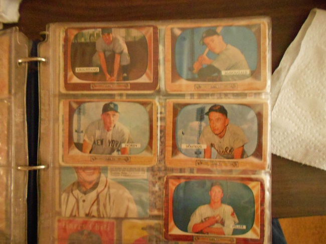 "1955 Bowman ""TV"" baseball cards"
