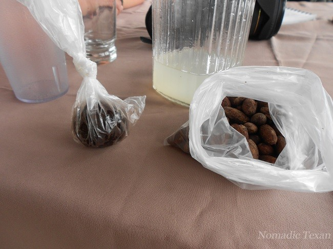 My Chocolate Ball and Cacao Beans for Kim