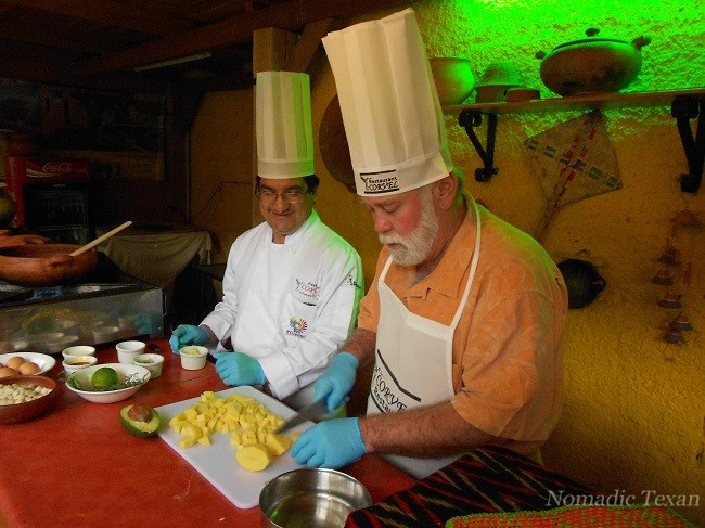 Chopping Potatoes for Cream of Potato Soup