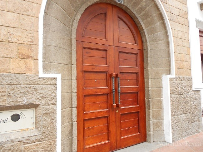 A Typical Restored Door in Cuenca