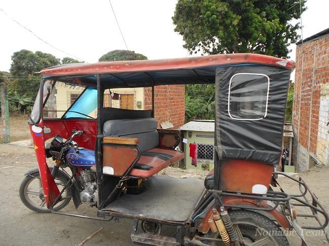 Tuk Tuk Like Taxi in Rural Area Towns