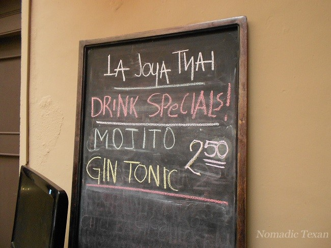 La Joya Thai Drink Specials