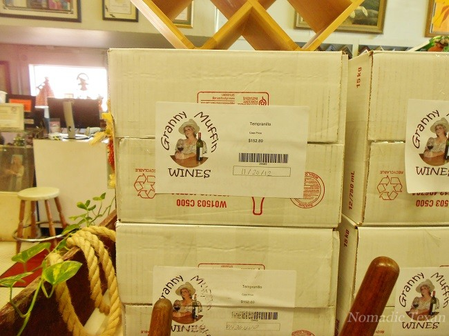 "Wine Boxed and Ready to Go ""Downstairs"" in the Texas Art Depot"