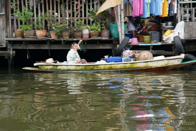 Typical Khlong Used by the Thai People