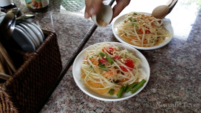 Khao Mun Som Tum, #Coconut Rice and Papaya Salad