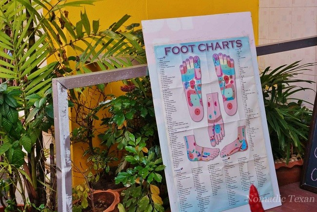 Pressure Points on a Reflexology Sign for the Foot
