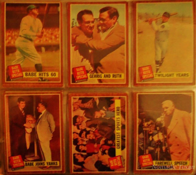 Series of Babe Ruth Cards Published in 1961