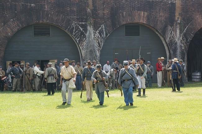 Confederate Forces Inside Fort Morgan