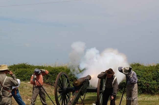 Cannons Firing on the Berm of Fort Morgan