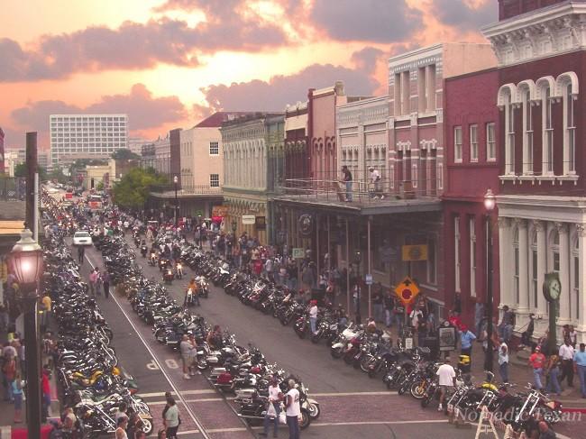Lone Star Biker Rally at Sunset