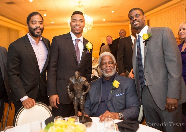 Christian Campbell (Earl's Oldest son), Trevone Boykin, Earl and Tyler Campbell (Earl's Youngest son)