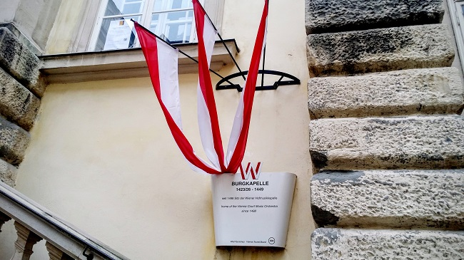 Home of the Vienna Boys Choir, This plaque and Ribbons Designates a National Historical Marker
