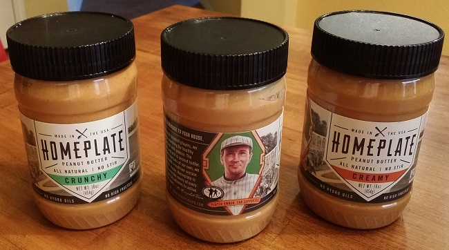 Three Flavors of Homeplate Peanut Butter
