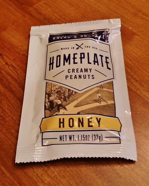 Individual Packet of Honey Flavored Homeplate Peanut Butter